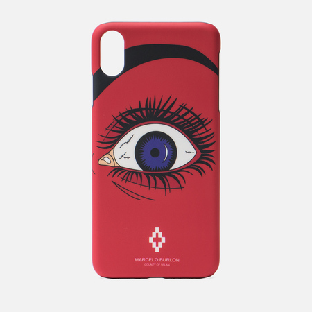 Чехол Marcelo Burlon Red Eye iPhone Xs Max Red/Multicolor
