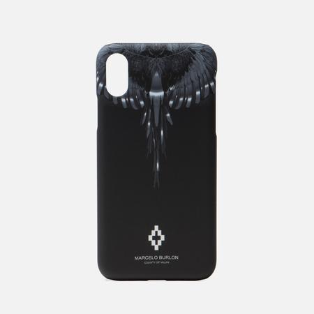 Чехол Marcelo Burlon Wings iPhone X Black/Silver