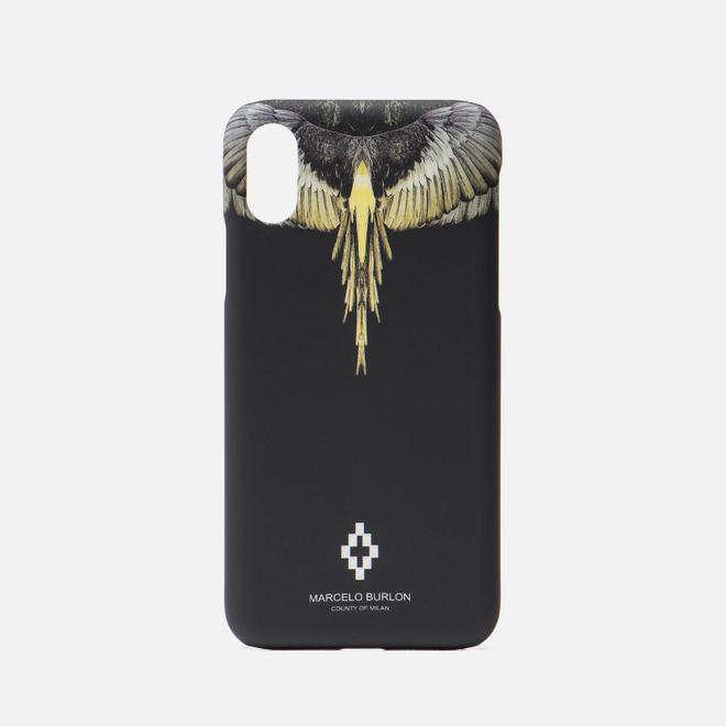 Чехол Marcelo Burlon Yellow Wings iPhone X Black/Multicolor