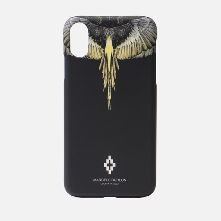 Чехол Marcelo Burlon Yellow Wings iPhone Xr Black/Multicolor