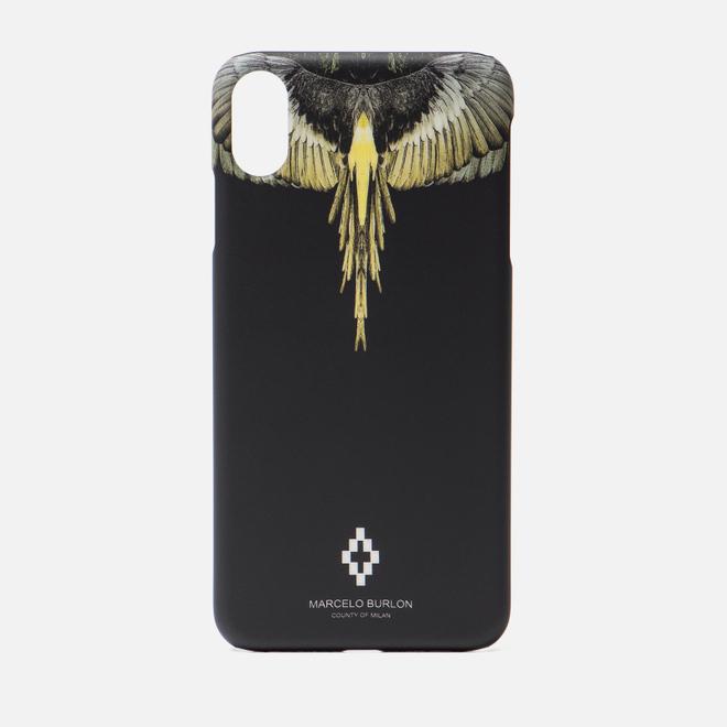 Чехол Marcelo Burlon Yellow Wings iPhone Xs Max Black/Multicolor