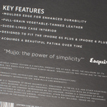 Mujjo Leather IPhone 6 Plus Case Black photo- 8
