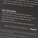 Чехол Mujjo Leather Wallet 80 IPhone 6/6s Black фото- 8