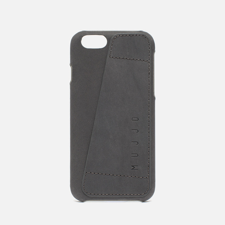 Mujjo Leather Wallet 80 IPhone 6/6s Case Grey