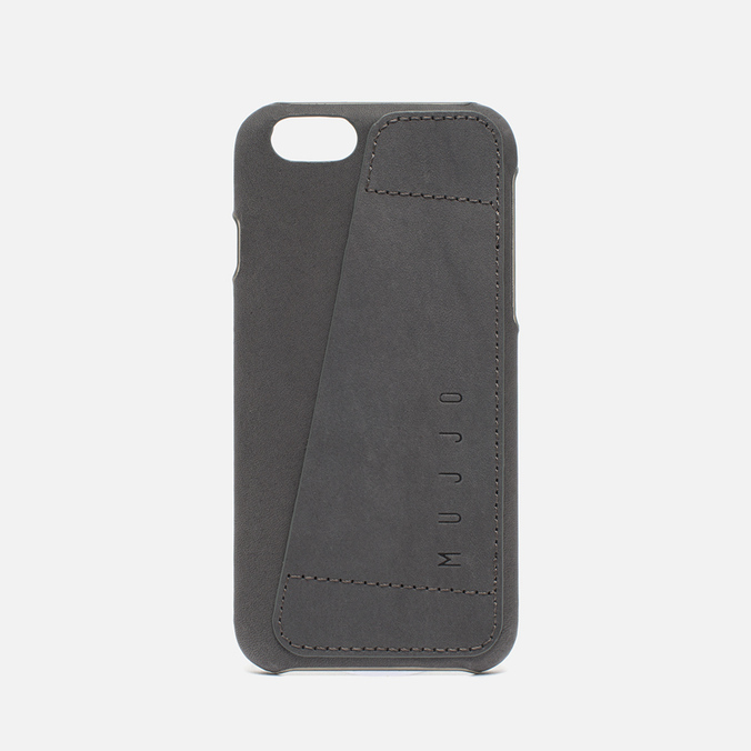 Чехол Mujjo Leather Wallet 80 IPhone 6/6s Grey