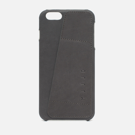 Mujjo Leather Wallet 80 IPhone 6 Plus Case Grey