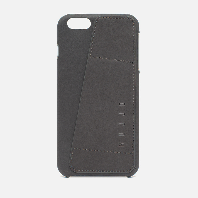 Чехол Mujjo Leather Wallet 80 IPhone 6 Plus Grey