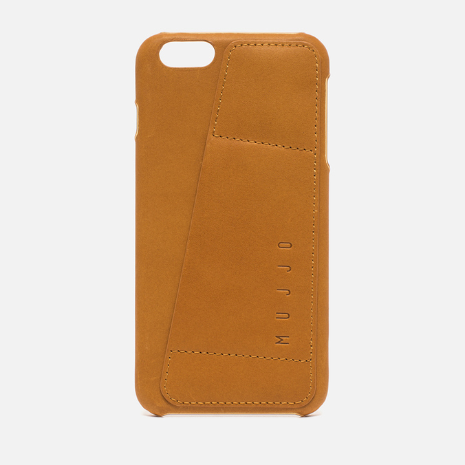 Mujjo Leather Wallet 80 IPhone 6 Plus Case Tan