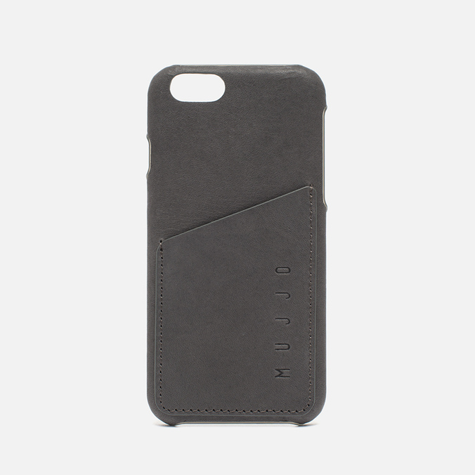 Чехол Mujjo Leather Wallet IPhone 6/6s Grey
