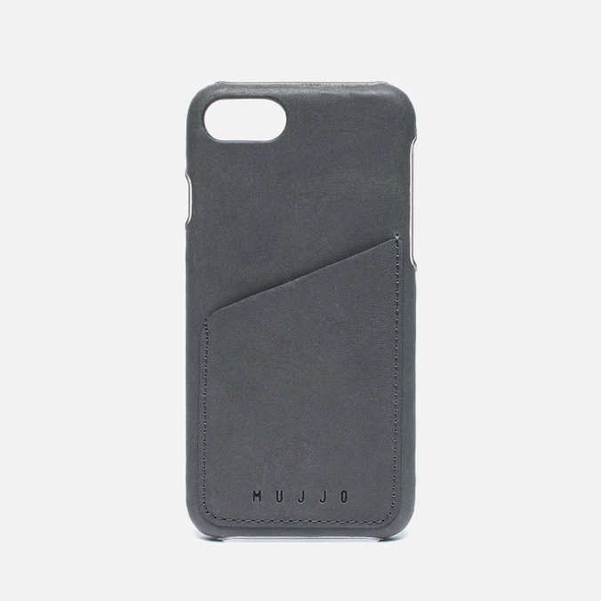 Чехол Mujjo Leather Wallet iPhone 7 Grey