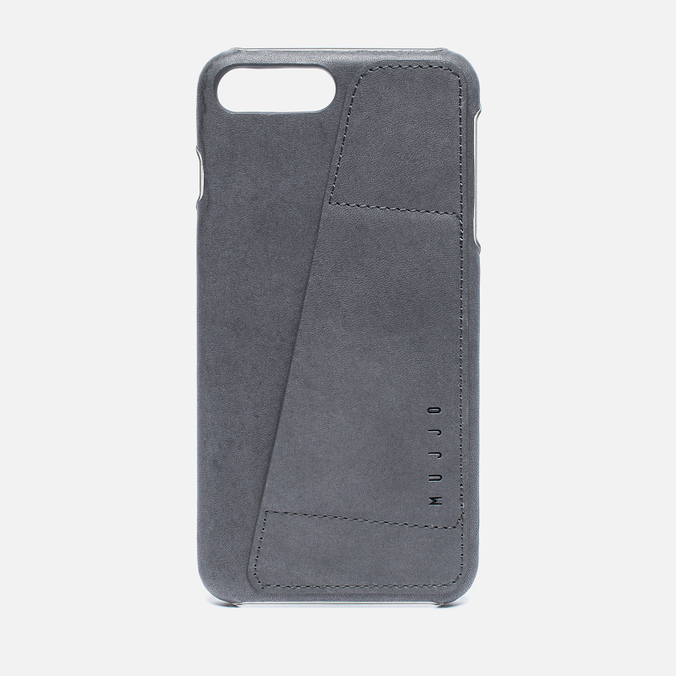 Чехол Mujjo Leather Wallet iPhone 7 Plus Grey