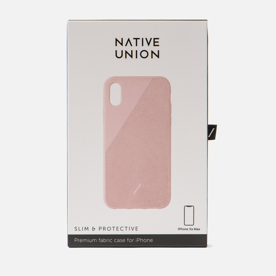 Чехол Native Union Clic Canvas iPhone Хs Max Rose