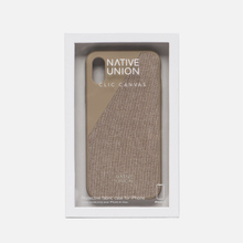 Чехол Native Union Clic Canvas iPhone X Beige фото- 3