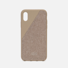 Чехол Native Union Clic Canvas iPhone X Beige фото- 0