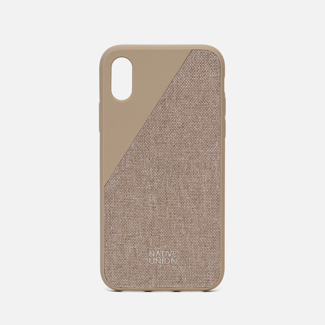 Чехол Native Union Clic Canvas iPhone X Beige