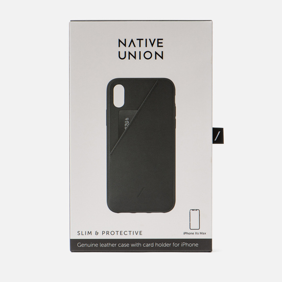 Чехол Native Union Clic Card iPhone Хs Max Black