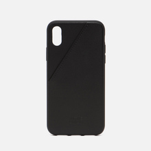 Чехол Native Union Clic Card Leather iPhone X Black фото- 0