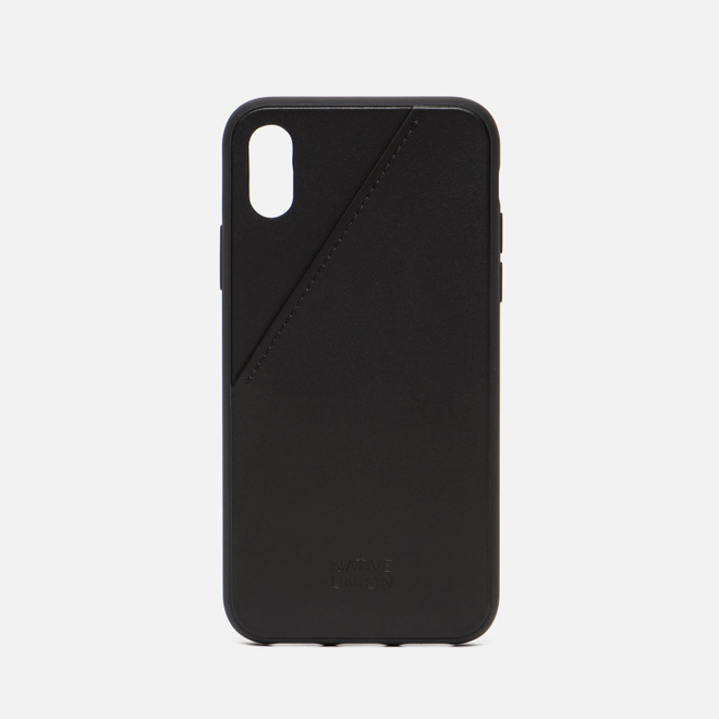 Чехол Native Union Clic Card Leather iPhone X Black