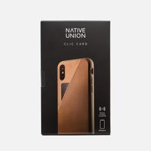 Чехол Native Union Clic Card Leather iPhone X Taupe фото- 3