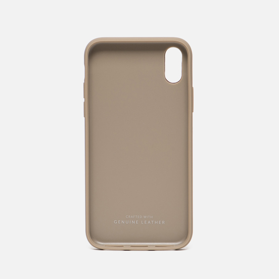 Чехол Native Union Clic Card Leather iPhone X Taupe