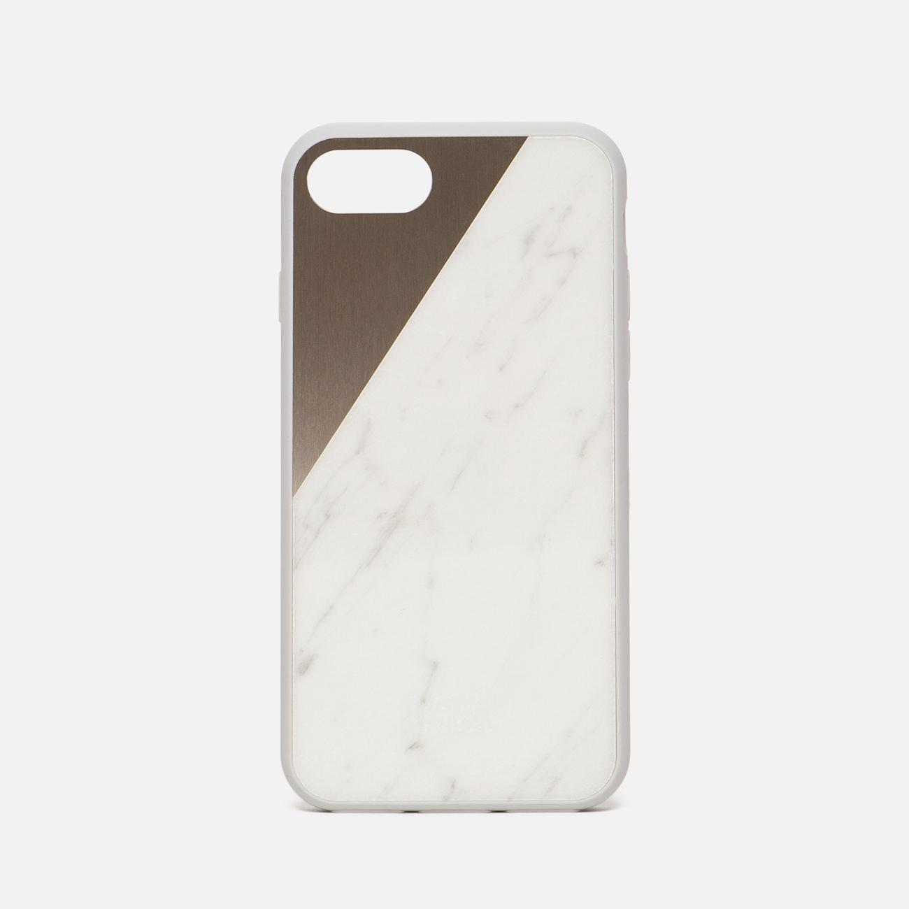Чехол Native Union Clic Marble iPhone 7 White/Rose