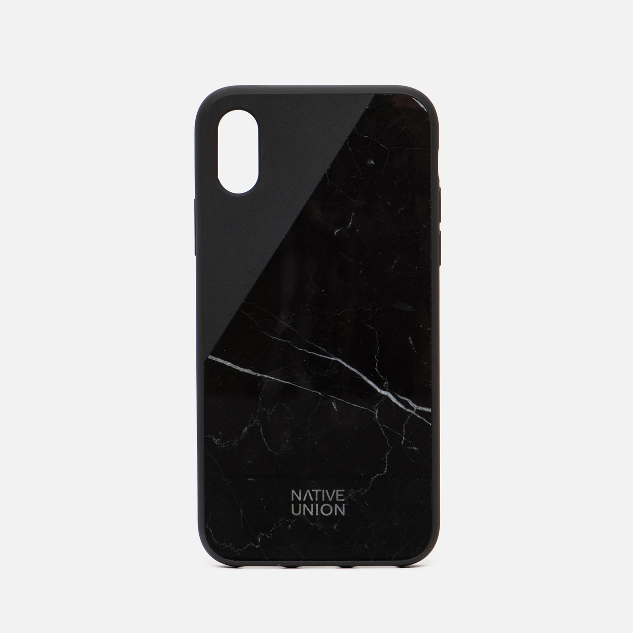 Чехол Native Union Clic Marble iPhone X Black