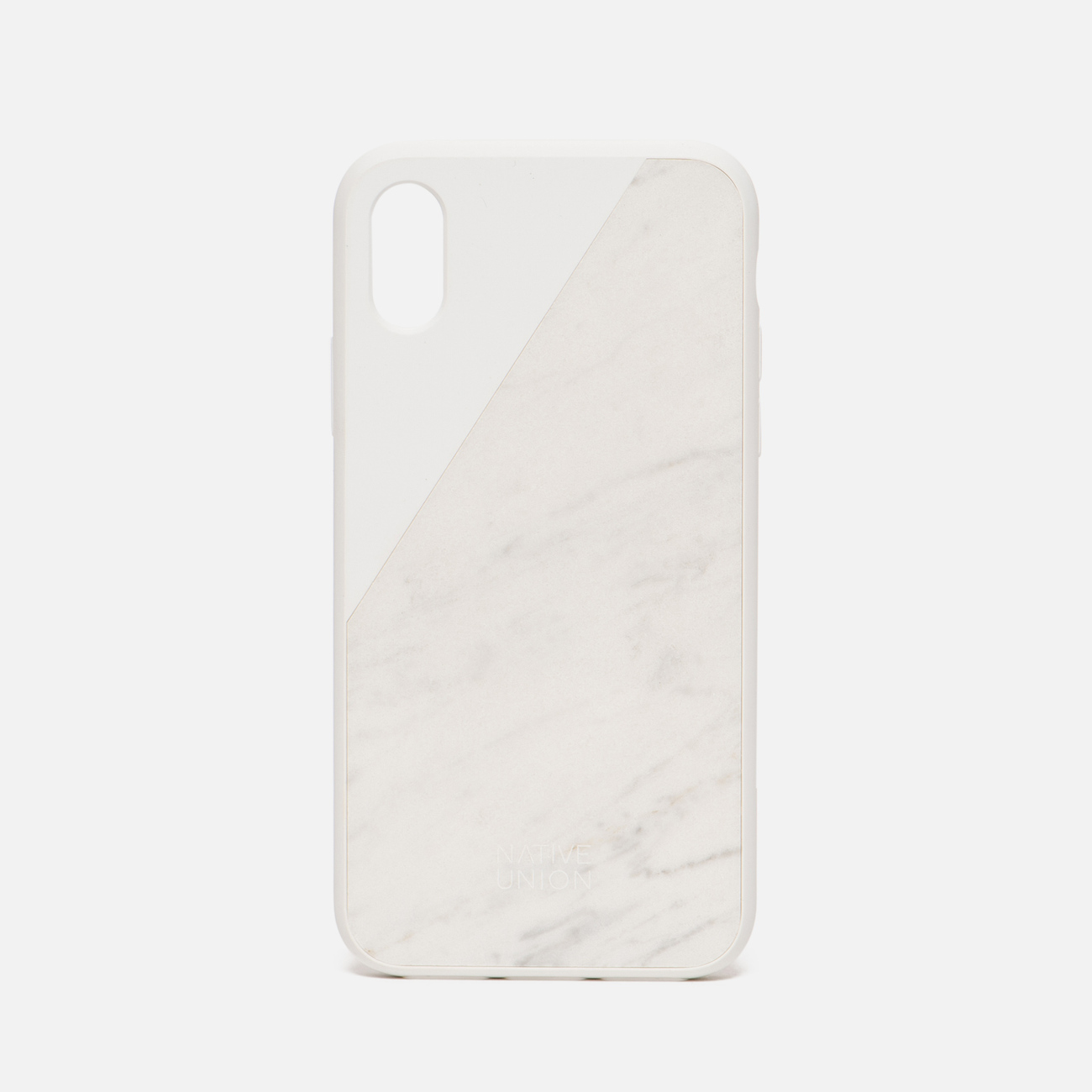 Чехол Native Union Clic Marble iPhone X White