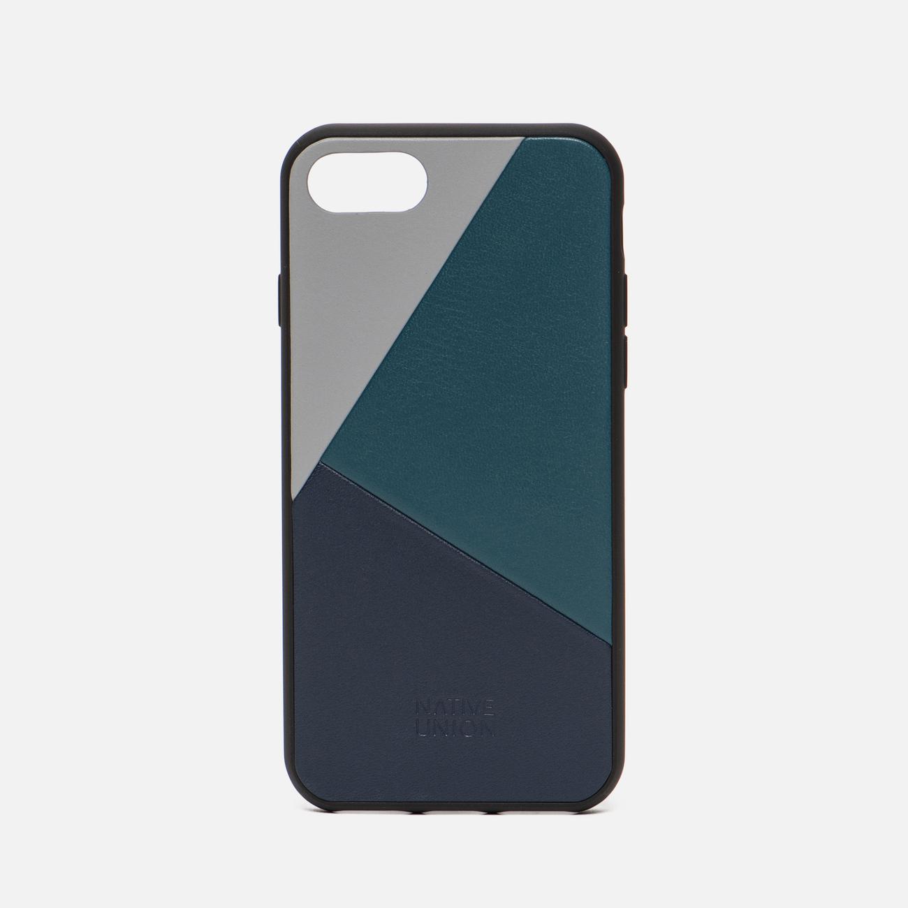 Чехол Native Union Clic Marquetry iPhone 7/8 Grey/Dark Green/Dark Blue