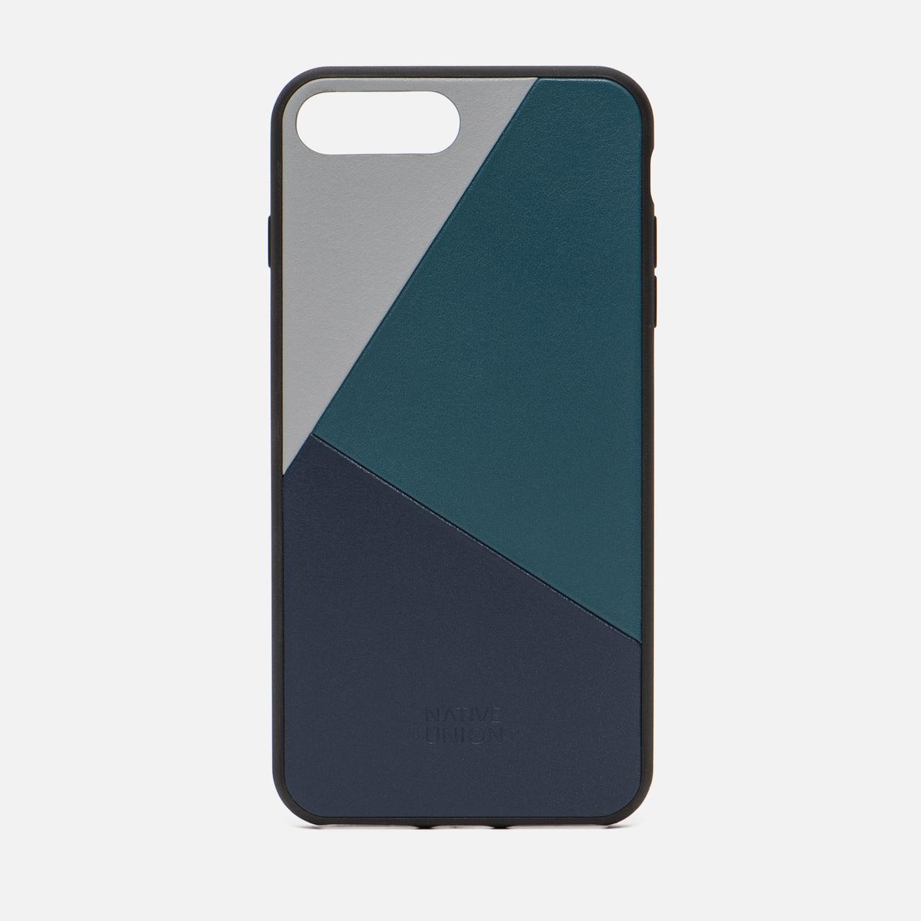 Чехол Native Union Clic Marquetry iPhone 7/8 Plus Grey/Dark Green/Dark Blue