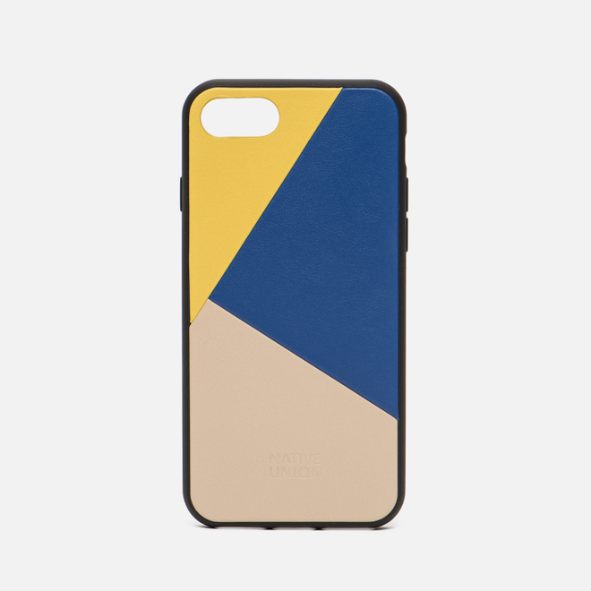 Чехол Native Union Clic Marquetry iPhone 7/8 Yellow/Blue/Beige