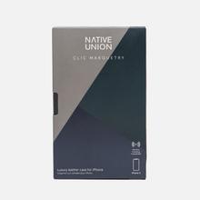 Чехол Native Union Clic Marquetry iPhone X Grey/Dark Green/Dark Blue фото- 3