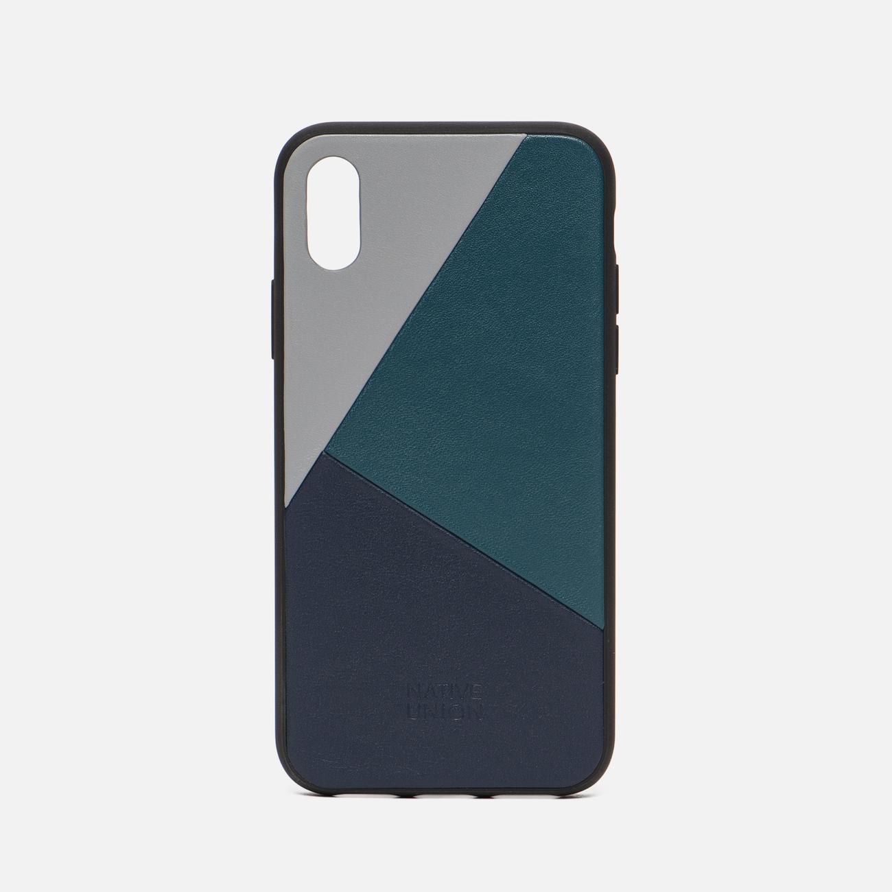 Чехол Native Union Clic Marquetry iPhone X Grey/Dark Green/Dark Blue