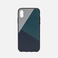 Чехол Native Union Clic Marquetry iPhone X Grey/Dark Green/Dark Blue фото- 0