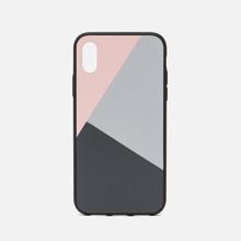 Чехол Native Union Clic Marquetry iPhone X Pink/Blue/Grey фото- 0
