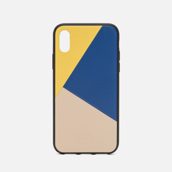 Чехол Native Union Clic Marquetry iPhone X Yellow/Blue/Beige
