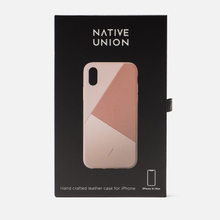 Чехол Native Union Clic Marquetry iPhone Xs Max Rose фото- 1