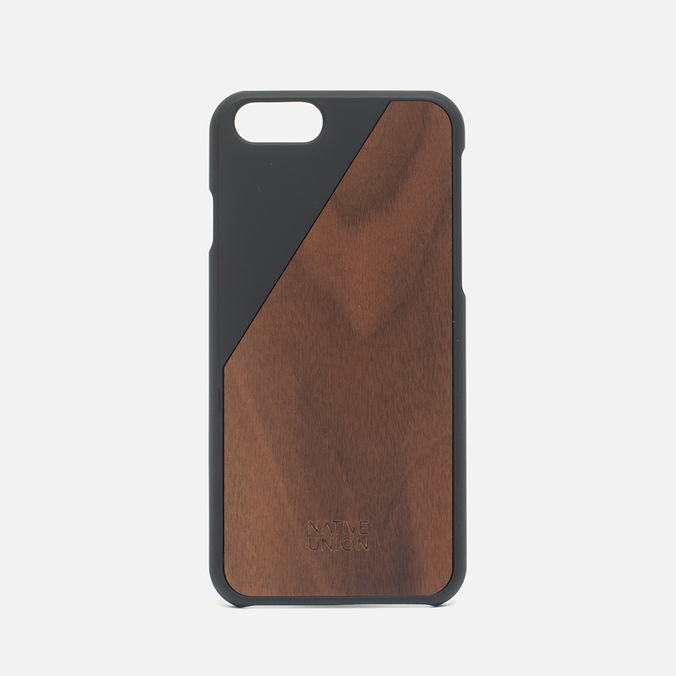 Чехол Native Union Clic Wooden IPhone 6/6s Black/Walnut Wood