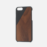 Чехол Native Union Clic Wooden IPhone 6/6s Black/Walnut Wood фото- 1
