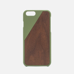 Чехол Native Union Clic Wooden IPhone 6/6s Olive/Walnut Wood фото- 0
