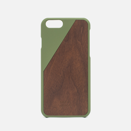 Чехол Native Union Clic Wooden IPhone 6/6s Olive/Walnut Wood