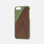 Чехол Native Union Clic Wooden IPhone 6/6s Olive/Walnut Wood фото- 1
