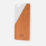 Чехол Native Union Clic Wooden IPhone 6 Plus White Wood фото- 1