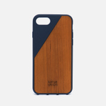 Чехол Native Union Clic Wooden iPhone 7 Marine/Wood фото- 0
