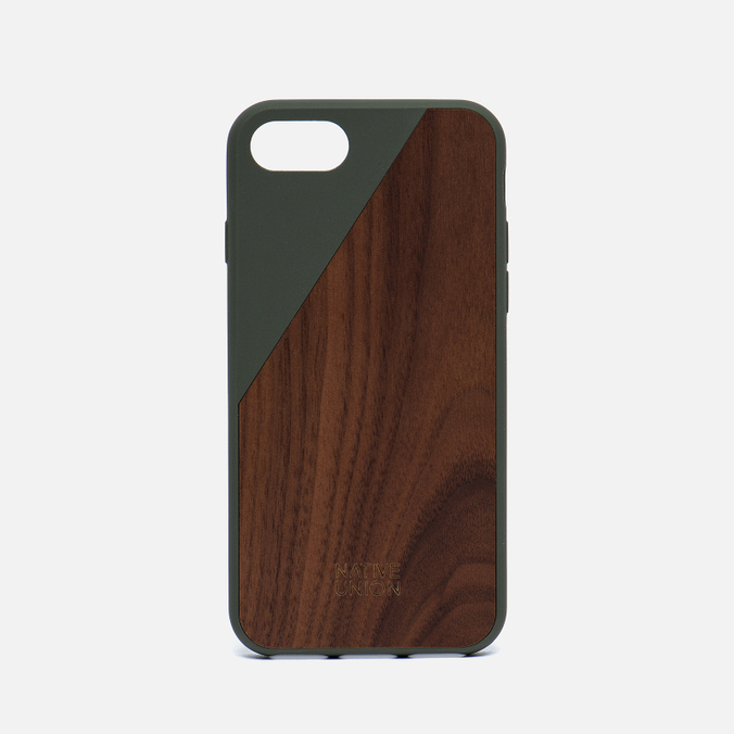 Чехол Native Union Clic Wooden iPhone 7 Olive/Wood