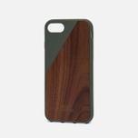 Чехол Native Union Clic Wooden iPhone 7 Olive/Wood фото- 1