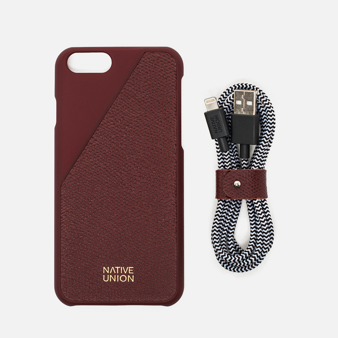 Набор для iPhone Native Union Leather Edition iPhone 6/6s Bordeaux