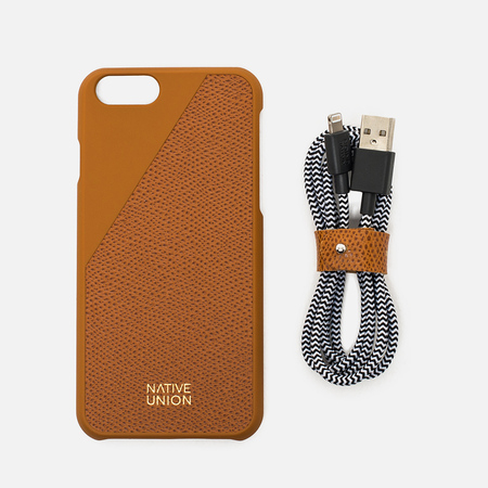 Набор для iPhone Native Union Leather Edition iPhone 6/6s Gold