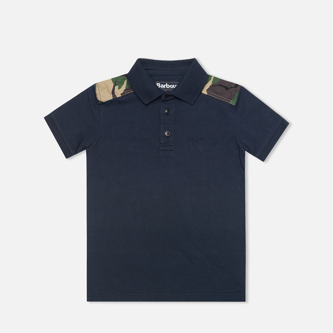 Barbour Cromwell Children's Polo Navy