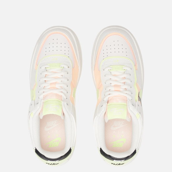 Женские кроссовки Nike Air Force 1 Shadow Summit White/Crimson Tint/Black