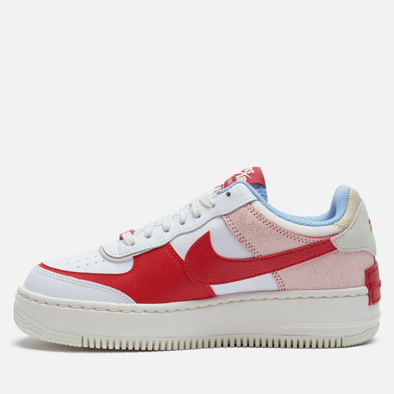 Женские кроссовки Nike Air Force 1 Shadow Summit White/University Red/Gym Red